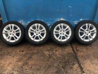 Vauxhall Corsa D 16 inch alloy wheels with good tyres