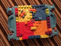 Mega blocks with cars and blocks