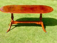 Coffee table in Yew.