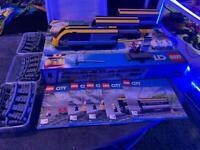 Lego train set and lights