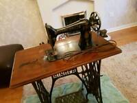 Singer Sewing Machine complete with table and treadle