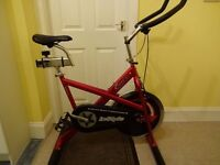 INSTYLE V600 SPINNING BIKE , FAULTY BUT WORKS.