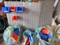 Dexion Maxi storage bin compartment workshop garage racking systems x3 with bins
