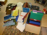 Miscellaneous files, paper, stencils. etc