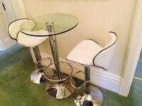 Breakfast Table Set (4 Piece, Glass)
