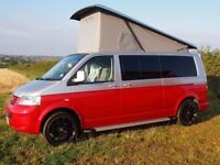 VW TRANSPORTER T5 CAMPERVAN 2009 POP TOP 2.5 TDI WITH AIRCON