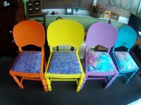 Four 1960s kitchen / dining chairs - Very shabby chic
