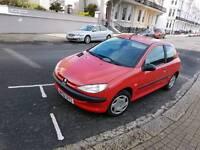 Peugeot 206 2002 low miles 59000 11 months mot