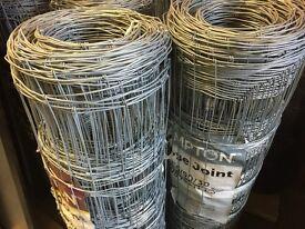 Hinge Joint galvanized fencing for sale. Hampton C6/90/30 100 metre rolls - 8No in stock