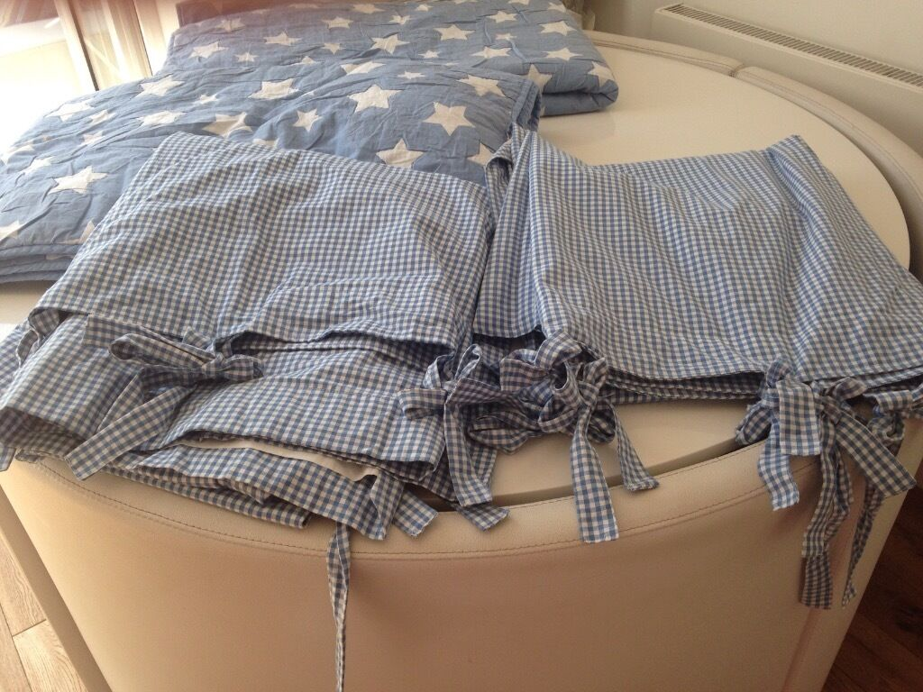 Decorative Double Curtain Rods Navy Gingham Curtains