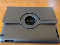 """TABLET CASE HOLDER STAND HARDBACK 9"""" HIGH X 7"""" WIDE BLACK SYNTHETIC LEATHER NEW"""