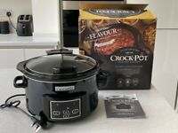 Crock Pot Digital Slow Cooker with original packaging and instructions