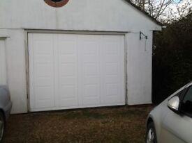 electrically operated garage door