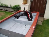 dingy road trailer and 2.5 mercury 2.5 outboard engine