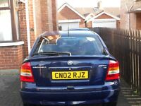 LATE2002 VAUXALL ASTRA 1.6 PETROL WITH 66700 MILES, 11 MONTHS MOT