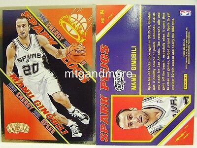 Panini NBA (Adrenalyn XL) 2013/2014 - #014 Manu Ginobili - Spark Plugs Manu Ginobili Nba