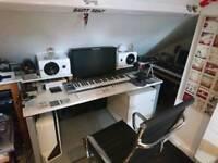 White heavy duty studio/office Desk