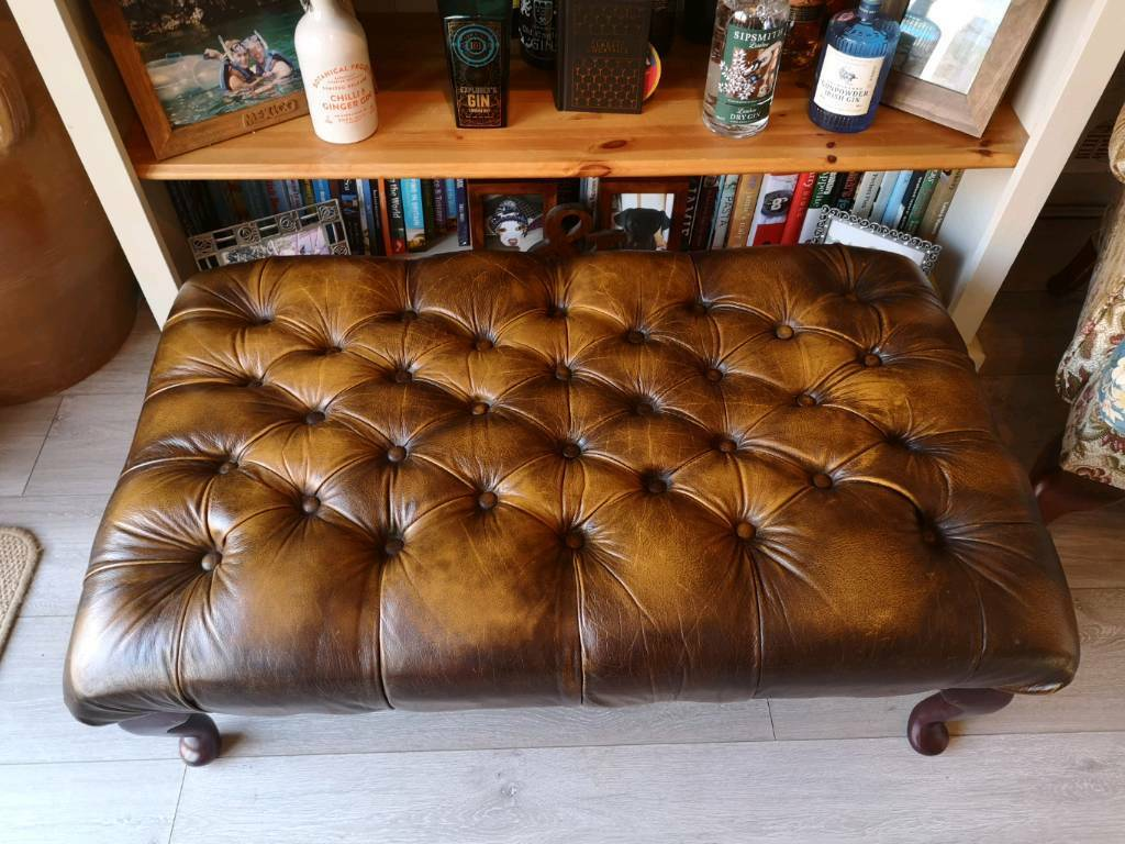 Large Chesterfield Footstool In Salisbury Wiltshire