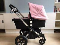Nearly New Bugaboo Cameleon 3 pink pram pushchair stroler & Car Seat, Travel Bag Adaptors Cup holder