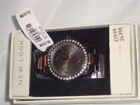 NEW LOOK LADIES WATCH WORN ONLY ONCE - COST £19.99 NEW WILL SELL FOR £12.00