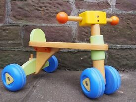 EARLY LEARNING CENTRE (ELC) WOODEN TRIKE, GOOD CONDITION