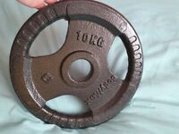 10kg bodymax weight plate 2 inch iron cast tri grip