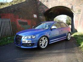 2009 (59 Reg) Audi S3 8P 2.0 TFSI Quattro S-Tronic 3Dr FSH Sepang Blue