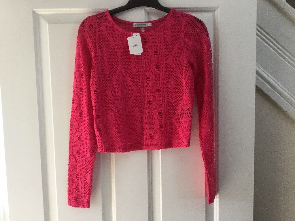 Urban Outfitters size S cropped crochet top *new with tags*