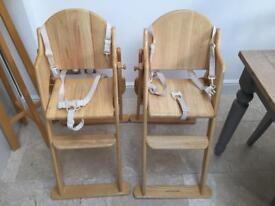 Good condition wooden highchairs