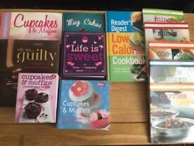 12 various cookbooks