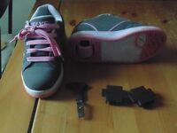 Heelys - Grey/Pink Size 2