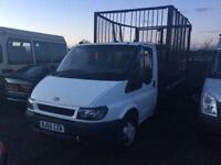 55 REG FORD TRANSIT TWINWHEEL TIPPER TRUCK LOW MILEAGE LONG MOT GOOD CHASSIS DRIVES SUPERB BIG CAGE
