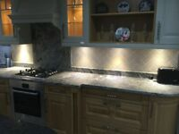 Display Carnegie wood 17 unit kitchen for sale! APPLIANCES INCLUDED!!