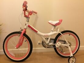 "Royalbaby Jenny Princess Pink Girl's Bike (16"") with Training Wheels and Basket"