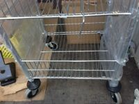 Mail Room Trolley - Two Basket -Chrome - in As New Condition - Model 320527