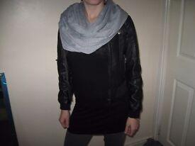 Short leather jacket H & M