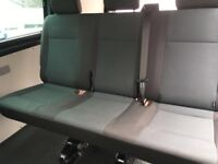 Vw Transporter T5 T6 Rear Triple In Simora Fabric Very Very Clean