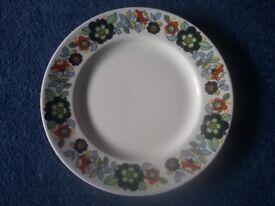 6 Johnson Bros Snowhite Summer Splendour dinner plates