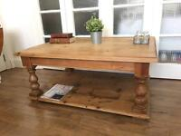 EXTRA LARGE VICTORIAN PINE COFFEE TABLE FREE DELIVERY LDN 🇬🇧🇬🇧🇬🇧