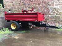 Tractor tipping trailer 8ft x 5ft .. great condition £650 !