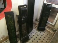 Large Victorian Fireplace Surround Black Marble excellent condition