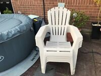 4 stackable pro garden chairs great quality