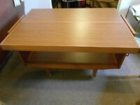 COLLAPSIBLE CANTILEVER DINING TABLE (SEATS FOUR), can deliver