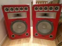 Custom built large speakers