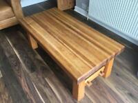 Beautiful oak top coffee table