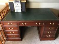 Large leather topped desk