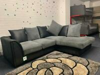 Grey & Black Corner sofa delivery 🚚 sofa suite couch 9 month old