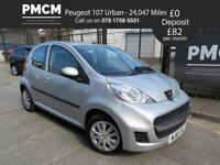 PEUGEOT 107 2011 1.0 URBAN 5 Dr - ONLY 24,047 MILES - LADY OWNER - LOW INSURANCE c1 aygo 2011