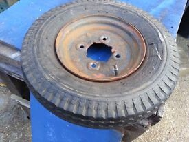 8 inch trailer wheel and tyre