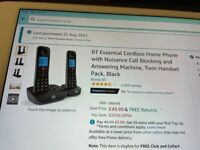 BT Essential Cordless Twin handsets with Answer machine